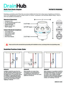 Drain Hub Installation Instructions - Statim USA Autoclave