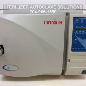 This is the close front view of one of our beautifully re-manufactured Tuttnauer EZ9 Automatic Autoclaves.