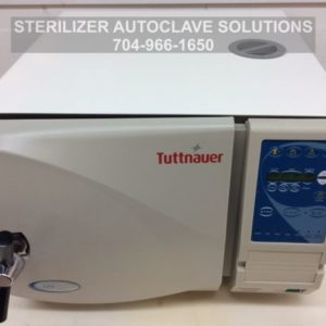 This is the front top view of one of our beautifully re-manufactured Tuttnauer EZ9 Automatic Autoclaves.