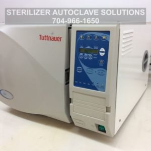 This is the left front view of one of our beautifully re-manufactured Tuttnauer EZ9 Automatic Autoclaves.