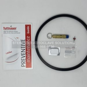 This shows the parts that belong in a Tuttnauer 2540M Annual Preventive Maintenance Kit