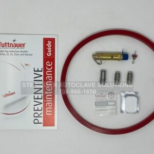 This shows the parts that belong in a Tuttnauer 2340EK Annual Preventive Maintenance Kit