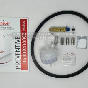 This shows the parts that belong in a Tuttnauer 2540EA Annual Preventive Maintenance Kit