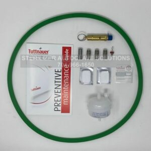 This shows the parts that belong in a Tuttnauer 3870EA Annual Preventive Maintenance Kit