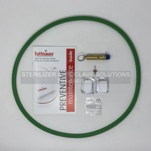 This shows the parts that belong in a Tuttnauer 3870M Annual Preventive Maintenance Kit