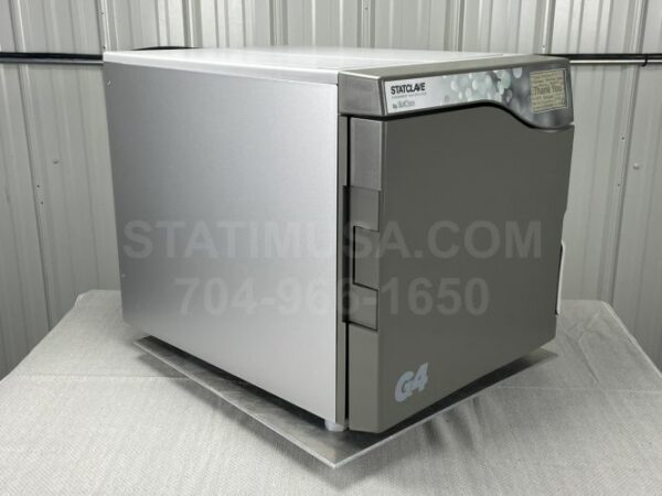 This is the front right view of a Scican Statclave G4 autoclave.