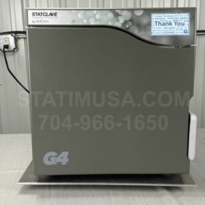 This is the front view of a Scican Statclave G4 autoclave.