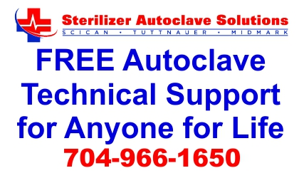 Sterilizer Autoclave Solutions offers FREE Autoclave Technical Support for Life to Anyone... even if you're not our customer.