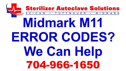Having problems with Midmark M-11 error codes? Well we can help you with that. And we have FREE Tech Support!