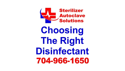 What is the Right Disinfectant