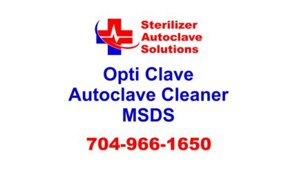 Opti Clave Autoclave Cleaner is a proprietary product to Sterilizer Autoclave Solutions.