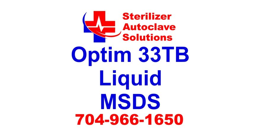 Disinfecting cleaner Optim 33TB is super safe for health and the environment. This msds shows the reasons why.