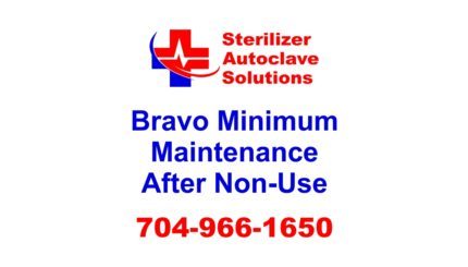 This list explains the minimum maintenance that should be performed on a Scican Bravo Sterilizer after it has not operated for an extended period of time.