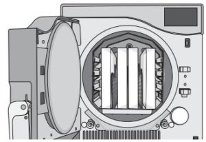 Cassettes placed properly in the Statclave G4's chamber