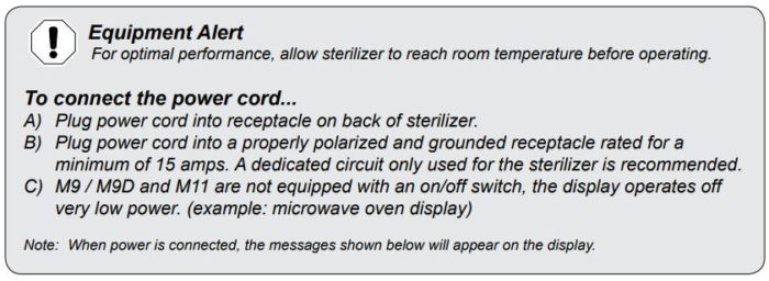 Some help for optimal performance of your Midmark Ritter Self Contained Steam Sterilizer