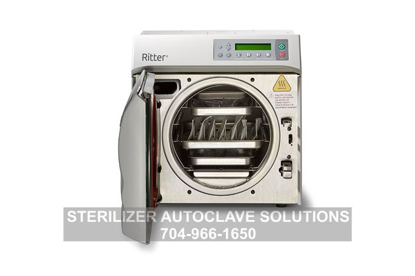 This is the new Ritter/Midmark M9 Steam Sterilizer with pouches inside