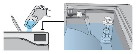 How to fill the clean water reservoir on a Scican Statclave G4 chamber autoclave