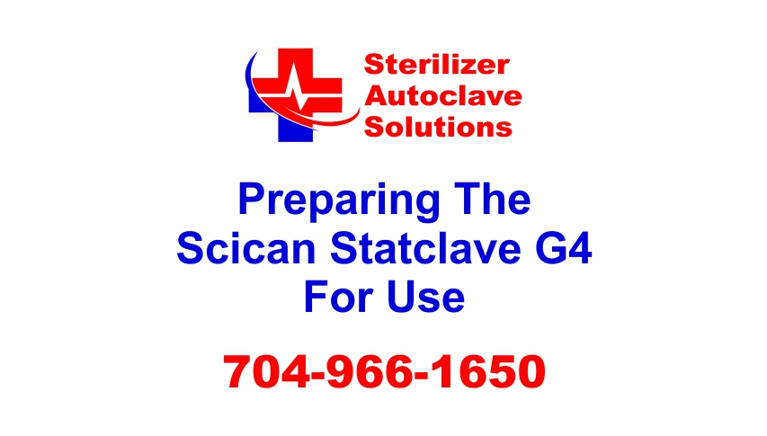 See how to get your Scican Statclave G4 ready to run some sterilization cycles