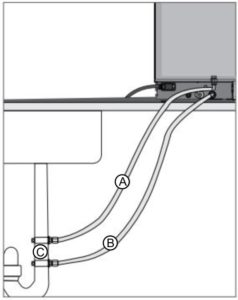 Connecting the exhaust and overflow tubing