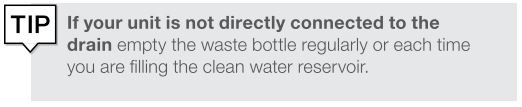 A tip about regularly emptying the wastewater bottle on a Statclave G4