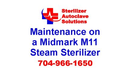 The proper preventive maintenance program for the Midmark Ritter M11 Self-Contained Steam Sterilizer