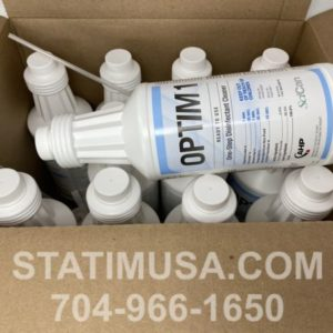 We sell Optim 1 One-Step Disinfectant Cleaner in 32 oz bottles