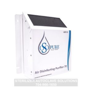 This is an OSO Pure Air Disinfecting Purifier-70 showing the right side.