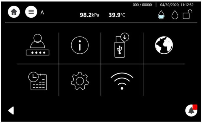 This shows the T-Edge settings screen.
