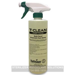 This is a bottle of Tuttnauer T-Clean Prep Foam OEM PF0006