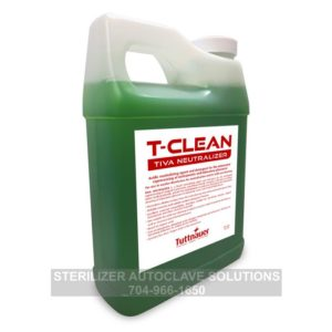 This is the front of a 1 liter bottle of Tuttnauer T-Clean Tiva Neutralizer