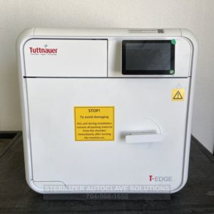 This is the front view of a Tuttnauer T-Edge 10S 220v 10″X18″ Chamber Autoclave