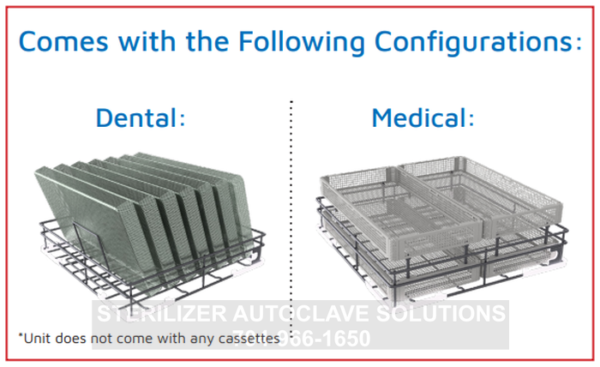 The TIVA2 has different configurations for medical and dental