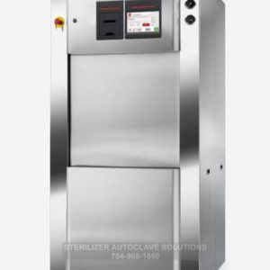 This is a Tuttnauer 5596 compact series stand alone autoclave shown from the front left corner