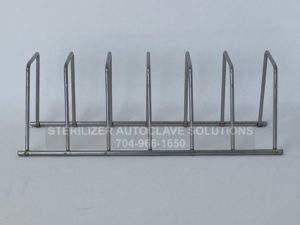This is the side view of a Midmark M9 or M11 6 slot pouch rack.