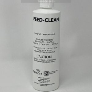 This is the front view of a 16oz bottle of Midmark Speed-Clean Autoclave Cleaner