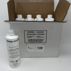 This is a case of 12 - 16oz bottle of Midmark Speed-Clean Autoclave Cleaner