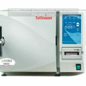 This is a Tuttnauer LABSCI 10 electronic benchtop autoclave