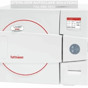 This is a Tuttnauer LABSCI 15L electronic benchtop autoclave