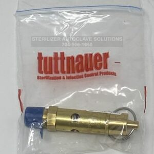 This is a Tuttnauer SAFETY RELEASE VALVE (40 PSI) OEM Part #03110002 in the package.