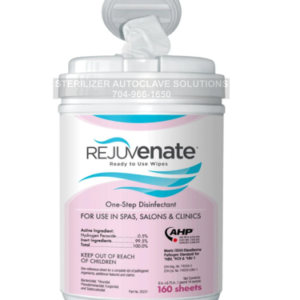 This is a cannister of Rejuvenate one step disinfectant wipes.