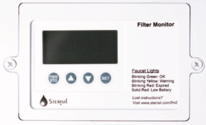 This is the filter monitor on the sterisil ac+