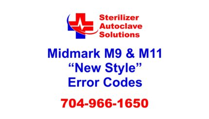 "This article covers the ""New Style"" Midmark M9 and M11 error codes."