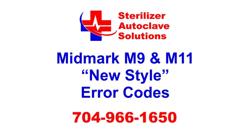 """This article covers the """"New Style"""" Midmark M9 and M11 error codes."""