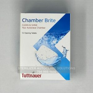 This is a box of 12 Chamber Brite autoclave cleaning tablets
