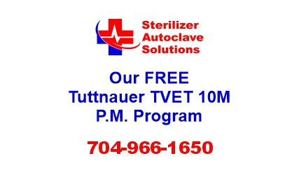 This article explains our FREE Preventive Maintenance Program that is available for the Tuttnauer TVET 10M autoclave.