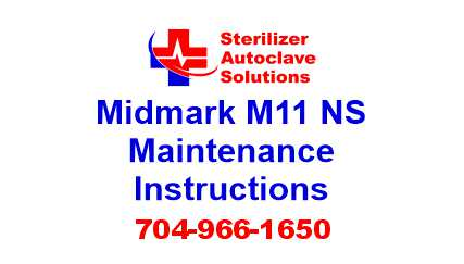 This article is taken from the installation guide for a Midmark M11 steam sterilizer.