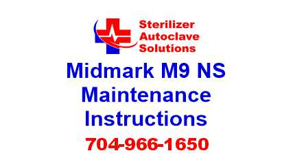 This article is taken from the installation guide for a Midmark M9 steam sterilizer.