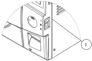 This is the power switch of the Tuttnauer EZ11Plus autoclave.