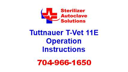 This article explains how to properly operate a Tuttnauer T-Vet 11E autoclave.
