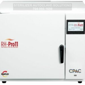 This is the front view of a CPAC RH-Pro11 heat sterilizer